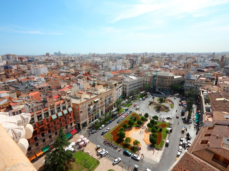 Blick auf Valencia